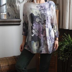 Chico's Pastel Floral Tunic